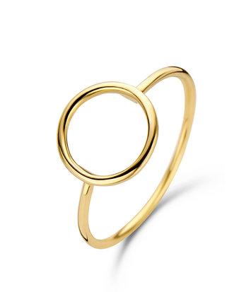 14 karaat geelgouden ring Circle - Jackie