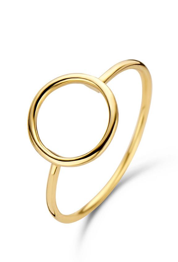 14 karaat geelgouden ring Circle - Jackie-1