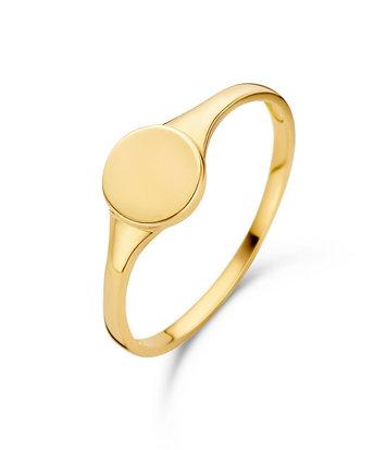 14 karaat geelgouden ring zegelring - Jackie - Signet