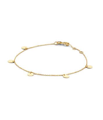 14 karaat geelgouden armband - Jackie - Discs