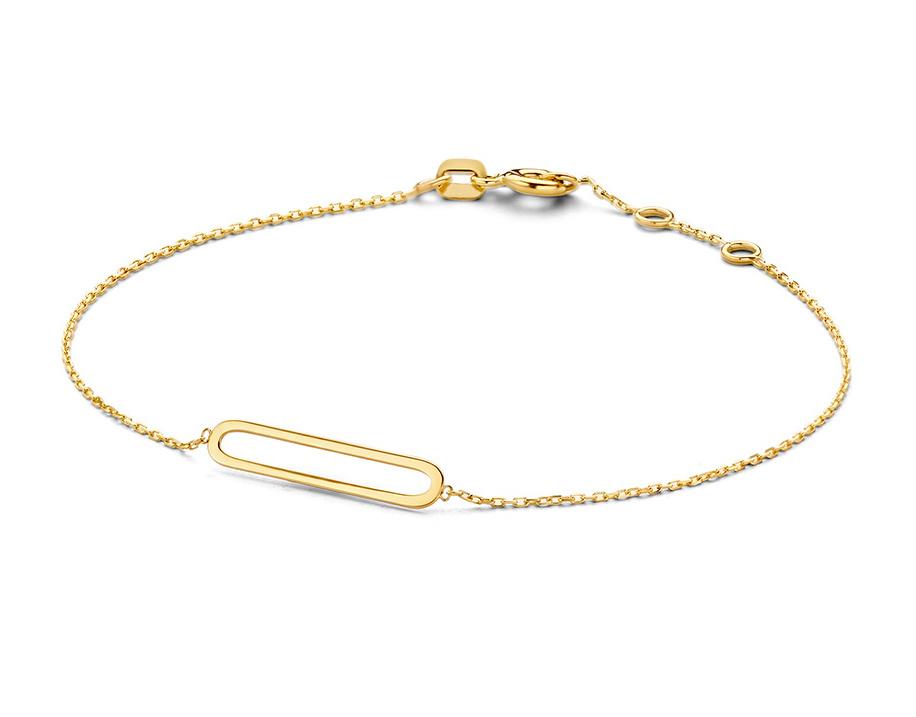 14 karaat geelgouden armband - Jackie - Link-1