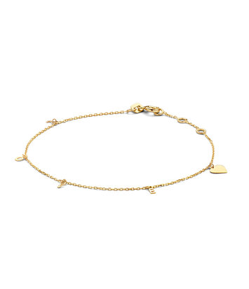 14 karaat geelgouden armband - Jackie - Love