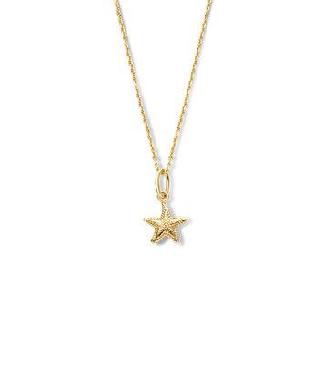 14 karaat geelgouden dames ketting met Starfish - Jackie