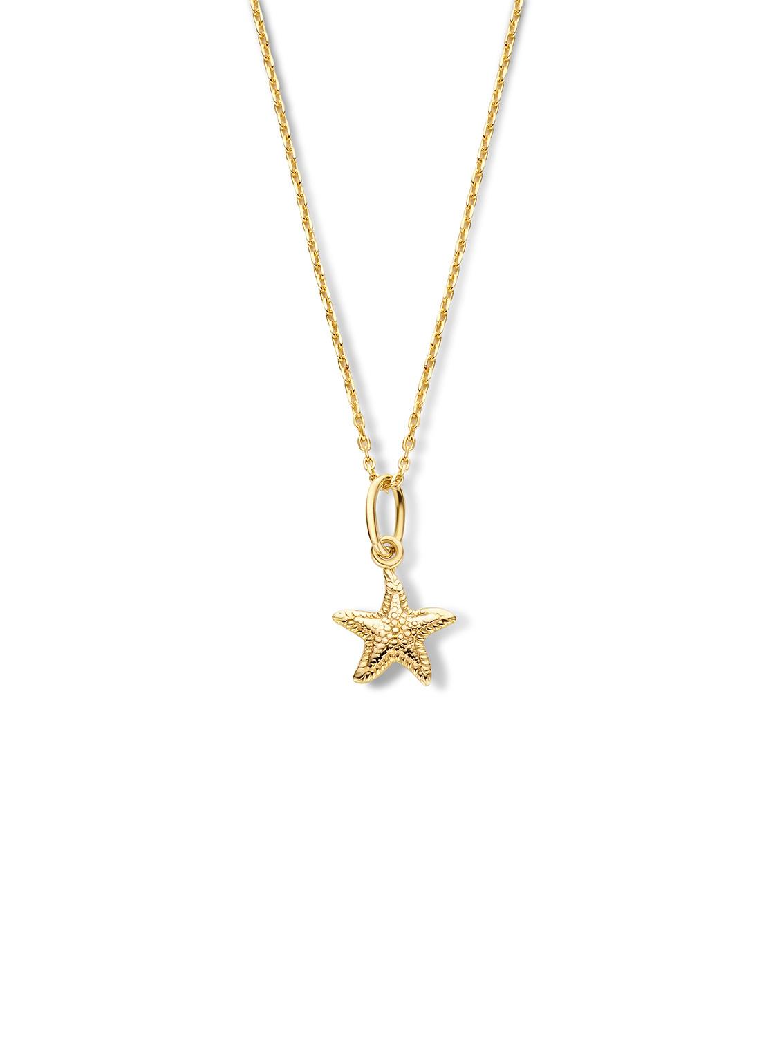 14 karaat geelgouden dames ketting met Starfish - Jackie-1