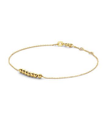 14 karaat geelgouden armband - Jackie - Mini Dots Bracelet