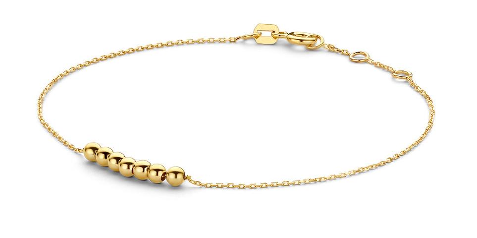 14 karaat geelgouden armband - Jackie - Mini Dots Bracelet-1