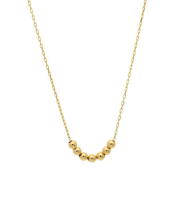 14 karaat geelgouden dames ketting - Jackie - Mini Dots Necklace