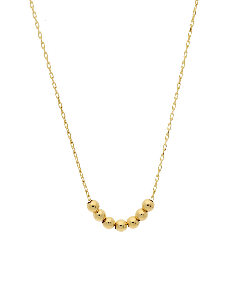 14 karaat geelgouden dames ketting - Jackie - Mini Dots Necklace-1