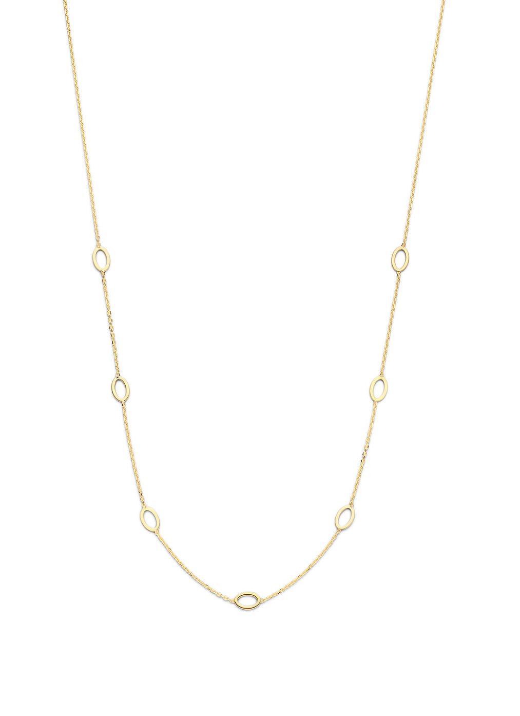 14 karaat geelgouden dames ketting - Jackie - Long Ovals Necklace-1