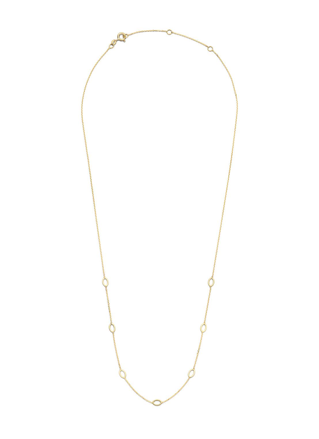 14 karaat geelgouden dames ketting - Jackie - Long Ovals Necklace-2