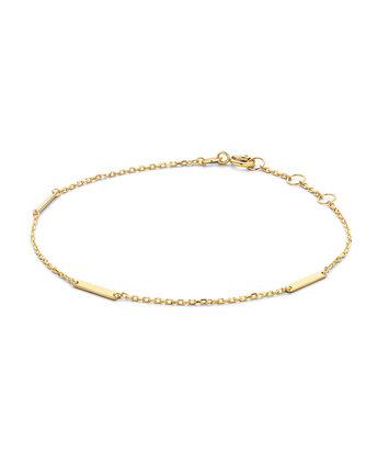 14 karaat geelgouden armband - Jackie - Triple Bar