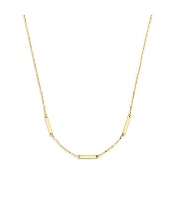 14 karaat geelgouden dames ketting - Jackie - Triple Bar Necklace