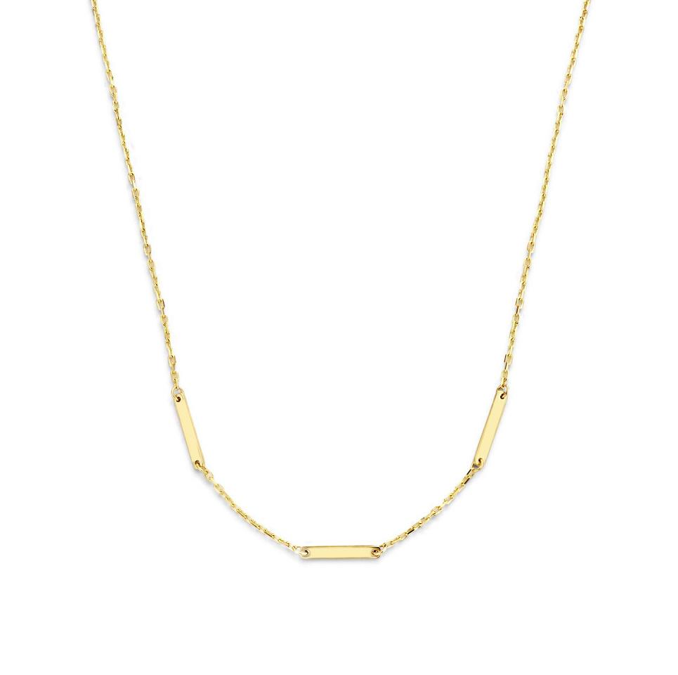 14 karaat geelgouden dames ketting - Jackie - Triple Bar Necklace-1