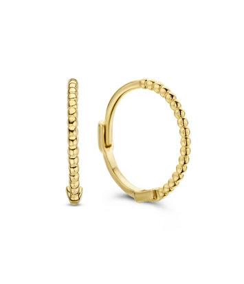 14 karaat geelgouden oorstekers - Jackie  - Mini Dots