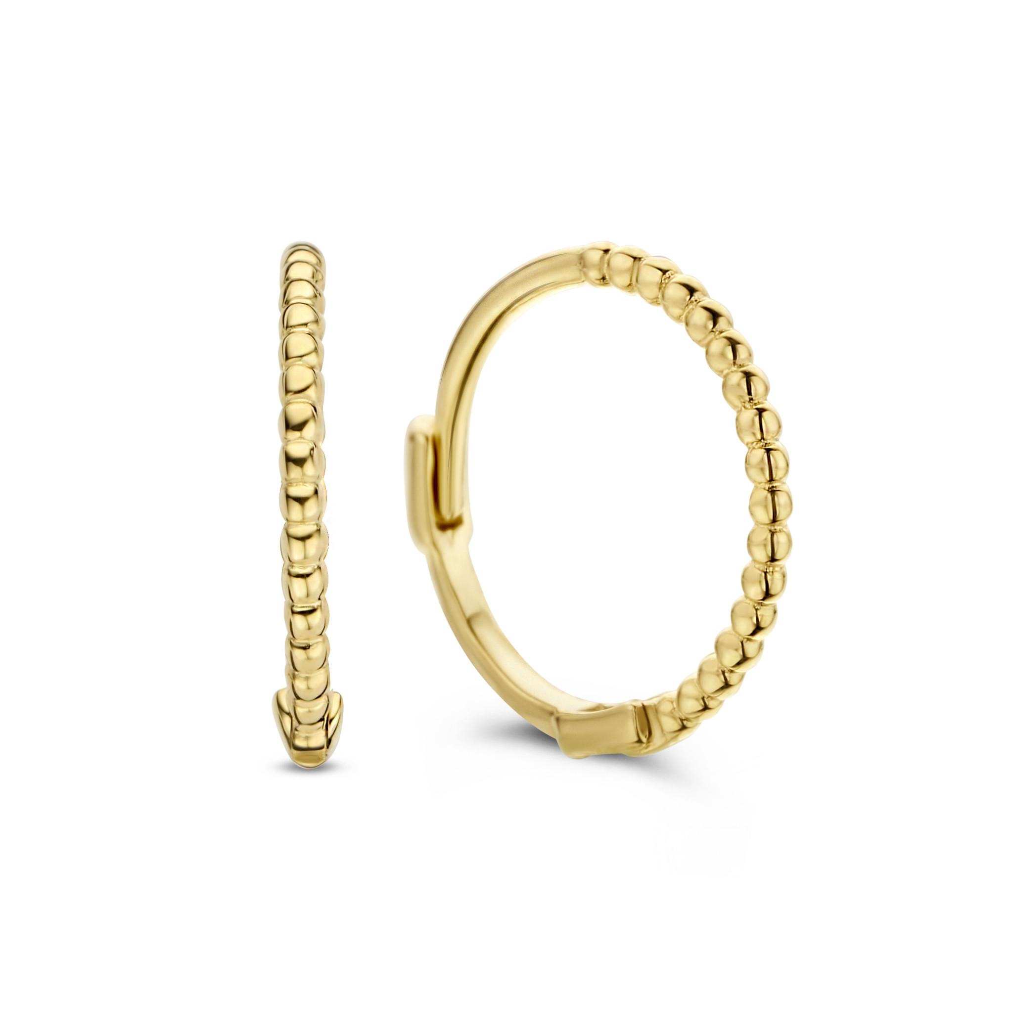 14 karaat geelgouden oorstekers - Jackie  - Mini Dots-1