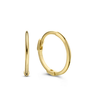 14 karaat geelgouden oorstekers - Jackie  - Mini Plain Hoops