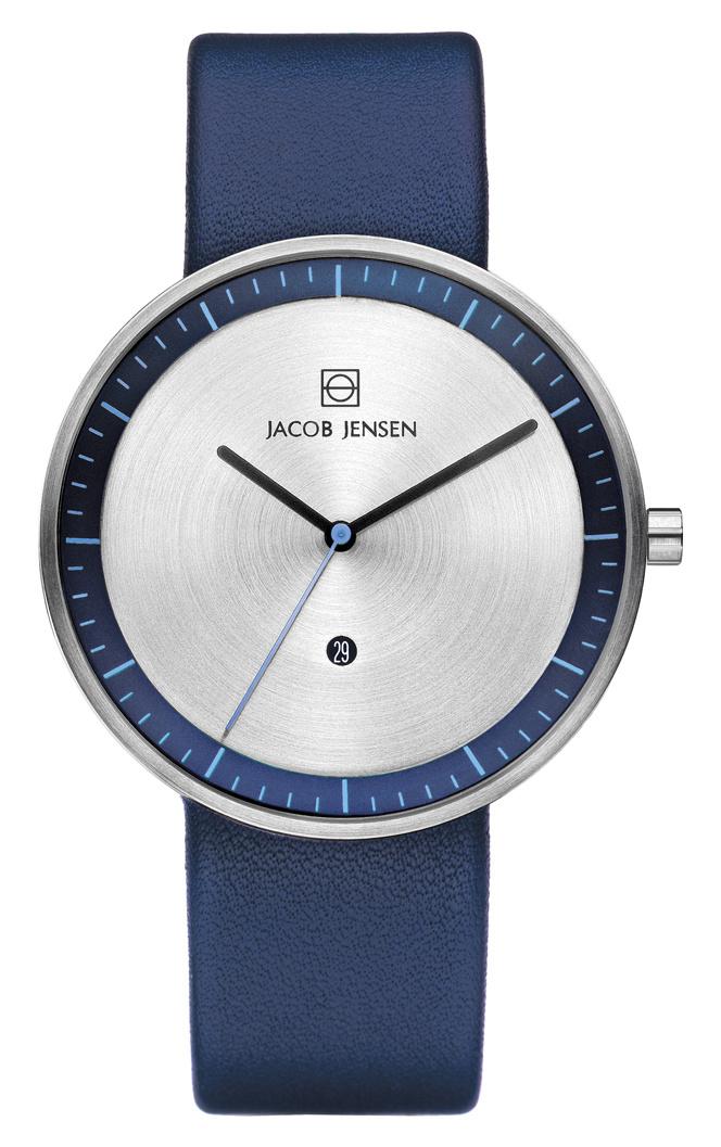 Jacob Jensen - Horloge Unisex - Strata 272 - Blauw-1