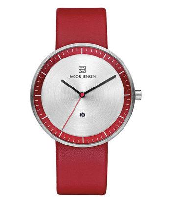 Jacob Jensen - Horloge Unisex - Strata 273 - Rood