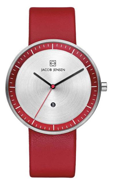 Jacob Jensen - Horloge Unisex - Strata 273 - Rood-1