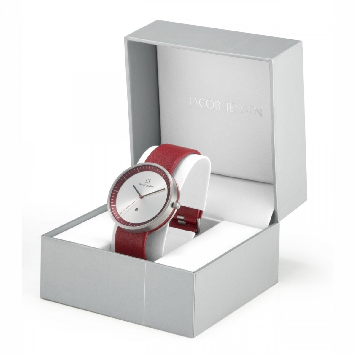 Jacob Jensen - Horloge Dames - Strata 283 - Rood-2