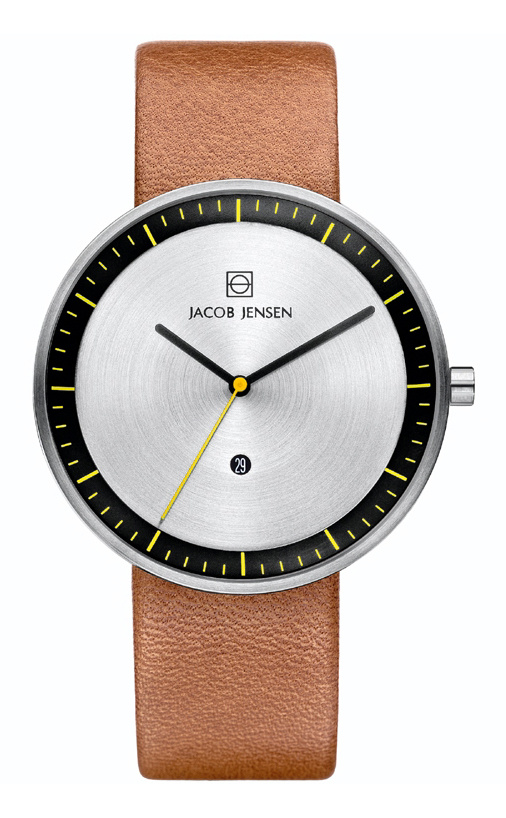 Jacob Jensen - Horloge Unisex - Strata 271 - Bruin-1