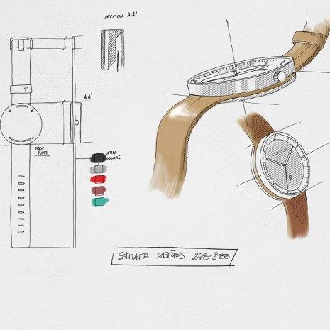 Jacob Jensen - Horloge Unisex - Strata 271 - Bruin-3