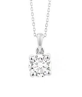 18 karaat witgouden ketting met diamant - Vanaf 0.05 ct. - 4 poot chaton - 18 karaat goud-2