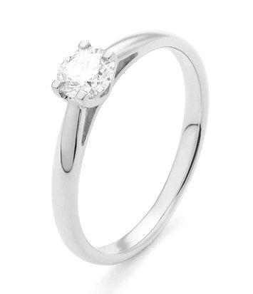 18 karaat witgouden ring met diamant 0.10 crt. - Solitair - Witgoud