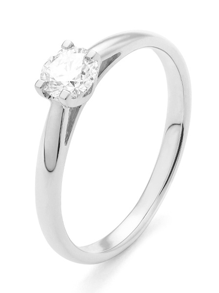 18 karaat witgouden ring met diamant 0.15 crt. - Solitair - Witgoud-1