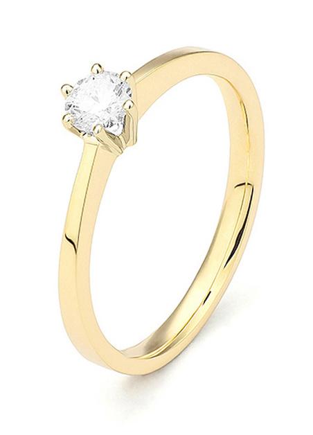 18 karaat geelgouden ring met diamant 0.05 crt. - Solitair - Geelgoud-1