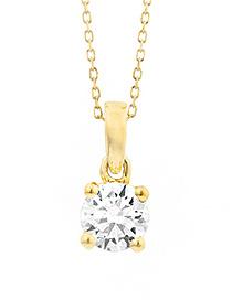18 karaat geelgouden ketting met diamant - Vanaf 0.05 ct. - 4 poot chaton-2