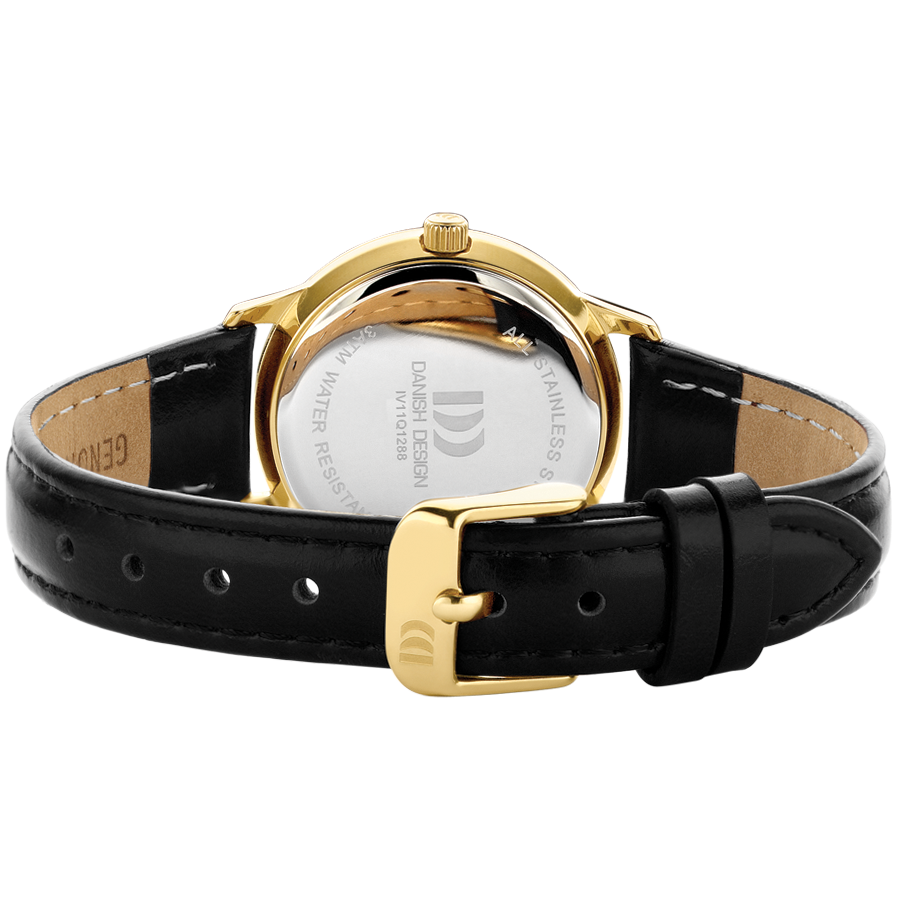 Danish Design - Horloge Dames - Nostalgi 1988 - Black Gold - IV11Q1288-2