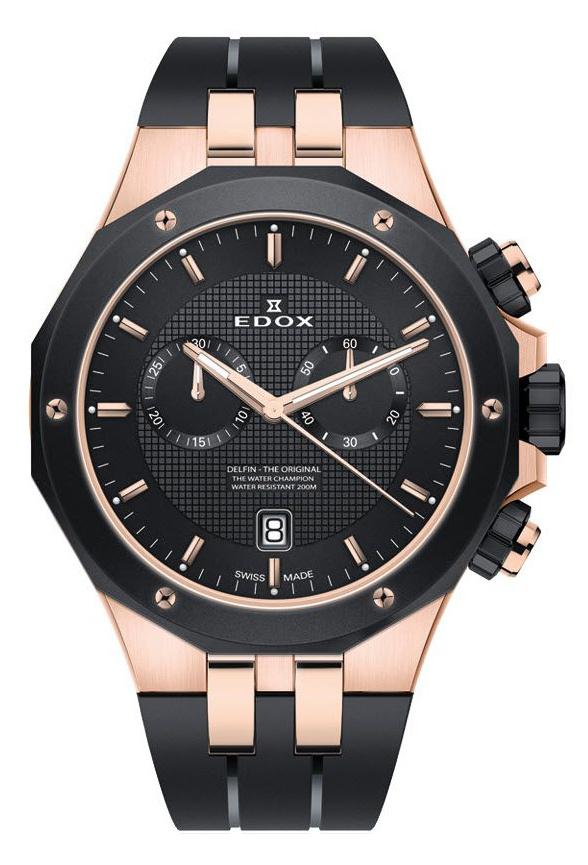 Edox - Horloge Heren - Delfin - 10110-357RNCA-NIR-1