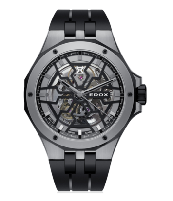 Edox - Horloge Heren - Delfin Mecano - 85303-357GN-NGN