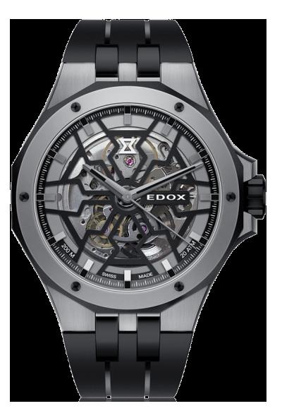 Edox - Horloge Heren - Delfin Mecano - 85303-357GN-NGN-1
