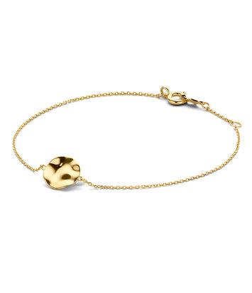 14 karaat geelgouden armband - Jackie - Wavy Disc