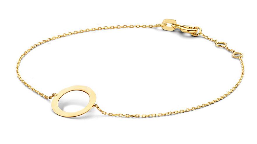 14 karaat geelgouden armband - Jackie - Silhouette-1