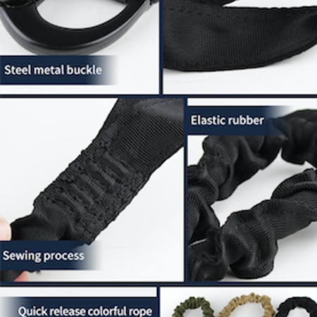 Tactical lanyard One Point Quick Release Safety Sling Outdoor military deployment rope