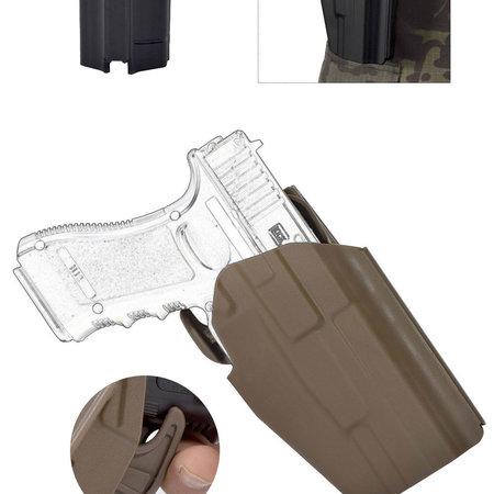 Gürtel Holster für Glock 19/17, Zeigfingerrelease, Rechts