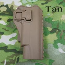 Holster Glock 17/19, Gürtel, Zeigfinger Release, Rechts