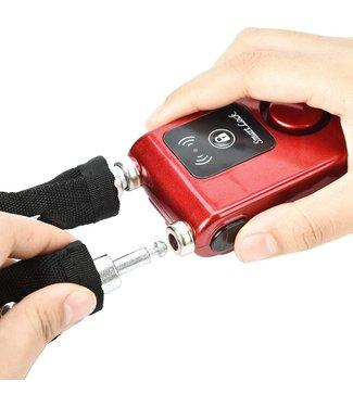 Kettingslot met Alarm - Bluetooth - Rood