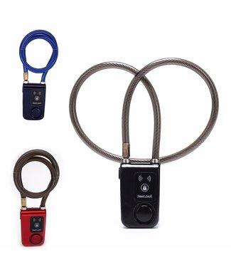 Kabelslot met Alarm -  Cijfercode - Rood