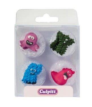 Culpitt Culpitt suikerdecoraties monster 12 stuks