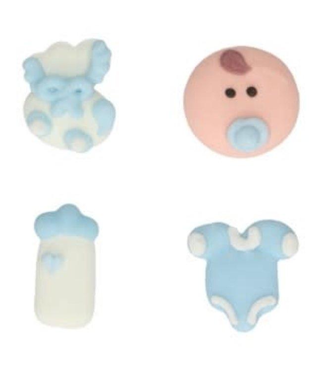 Funcakes Funcakes suiker decoraties baby boy set 8
