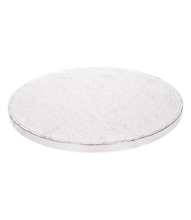 Funcakes Funcakes taartplateau rond dik/drum 15 cm zilver