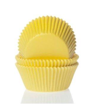 House of Marie House of Marie mini baking cup geel 60 stuks