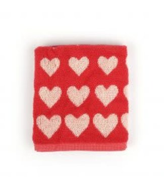 Bunzlau Castle Bunzlau Hearts handdoek rood  60x53 cm