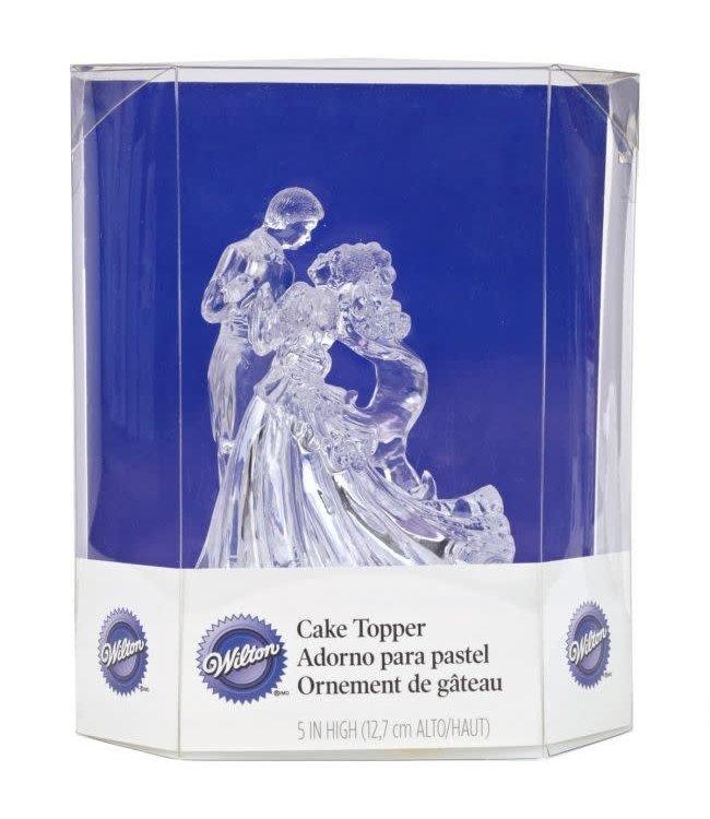 Wilton Wilton Cake Topper bruidspaar doorzichtig acryl