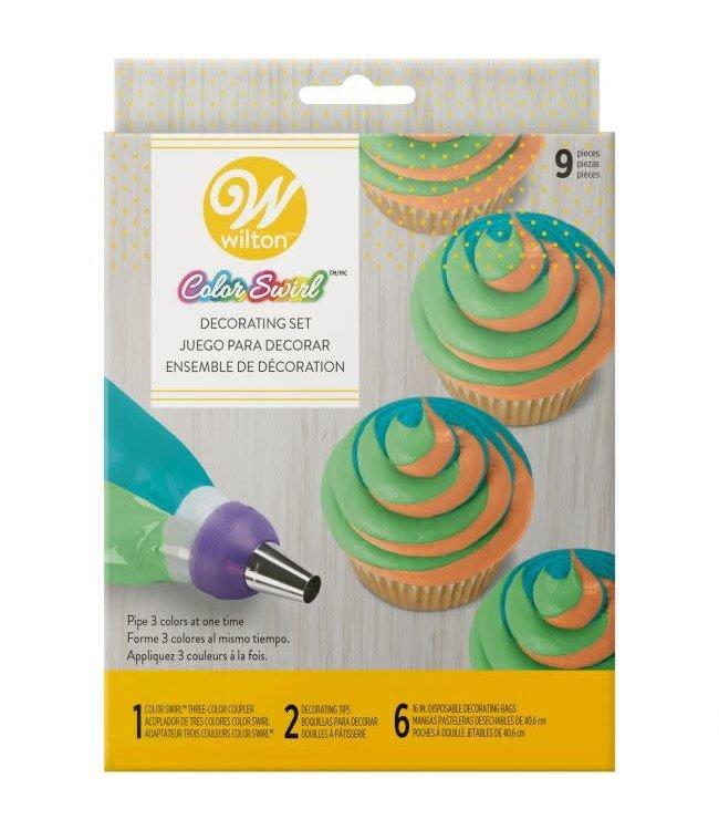 Wilton Wilton tri-color swirl decoratieset