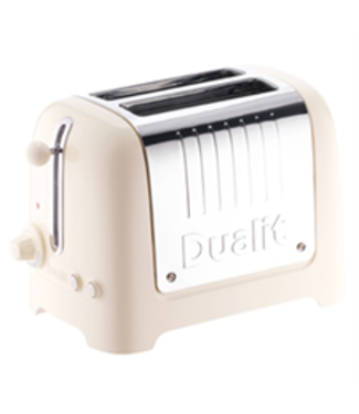 Dualit Dualit lite broodrooster 2 slots canvas wit pop